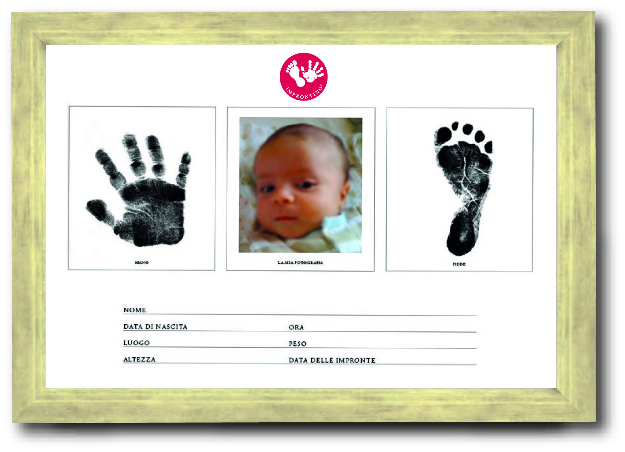 Improntino un regalo che lascia il segno nei ricordi di for Cornice bianca foto